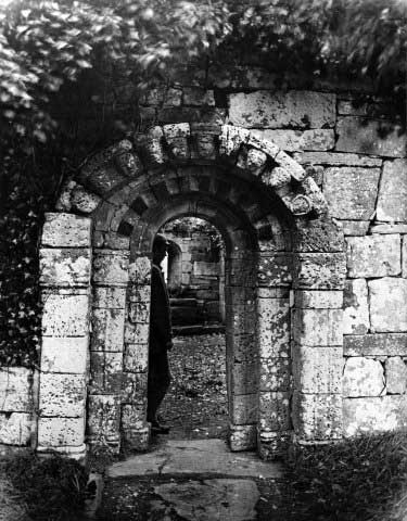 The carved doorway at Inchagoill in County Galway.