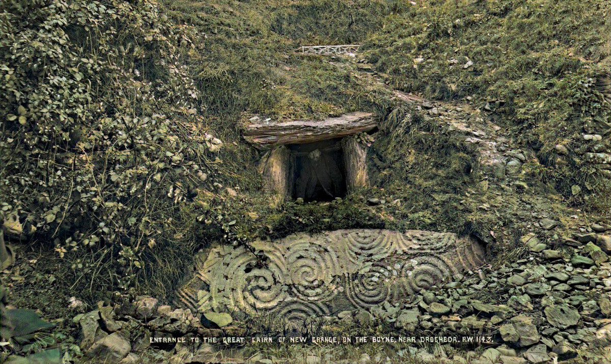 The entrance to Newgrange by Robert Welch.