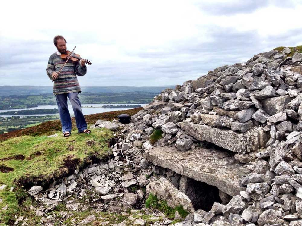 Fiddling on the mountain at Carrowkeel.