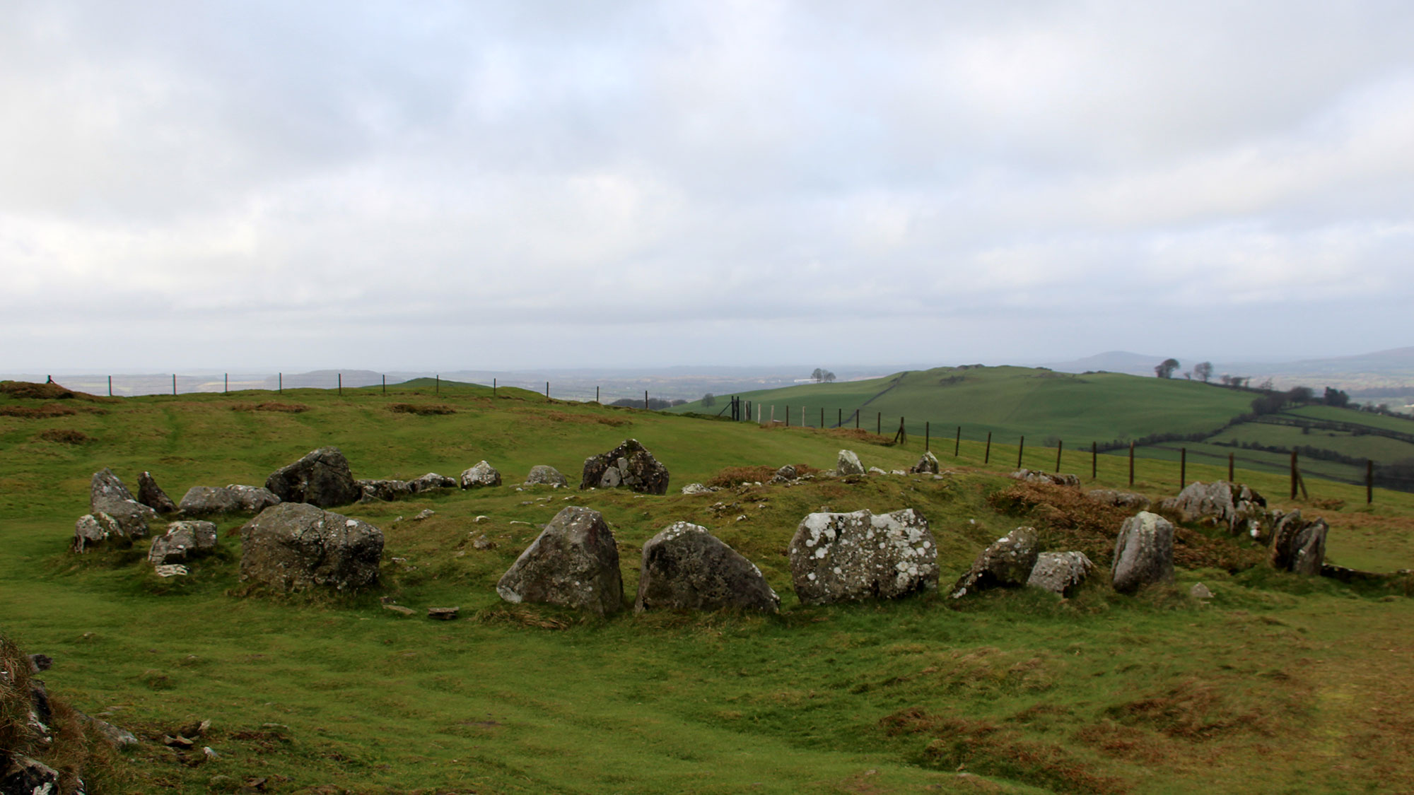 Sliabh na Cailleach, the Hill of the Witch, at Loughcrew in County Meath.